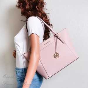 NWT Michael Kors Ciara Leather Tote in Blossom